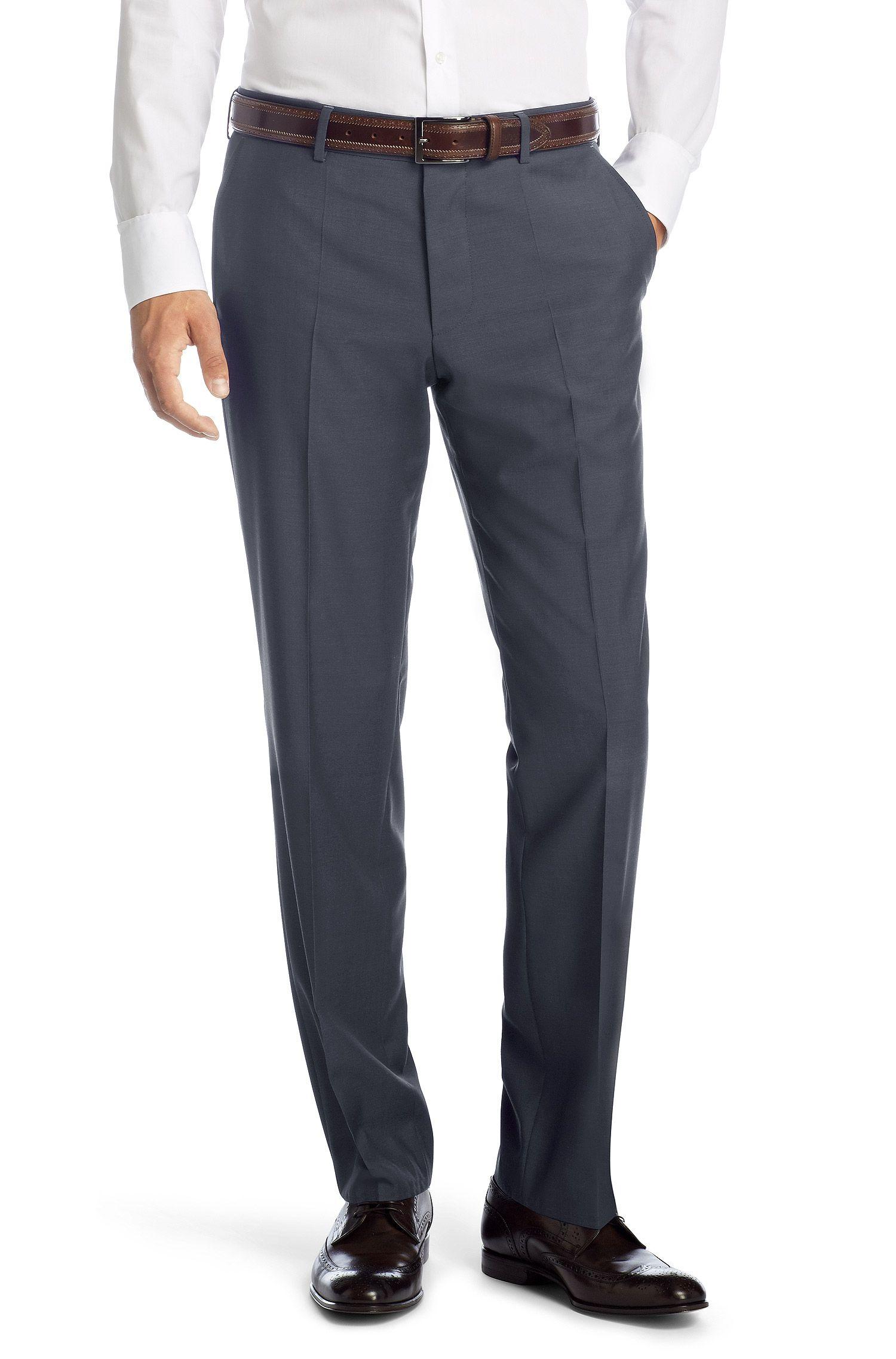 Comfort fit zakelijke broek 'Parkway1' van scheerwol