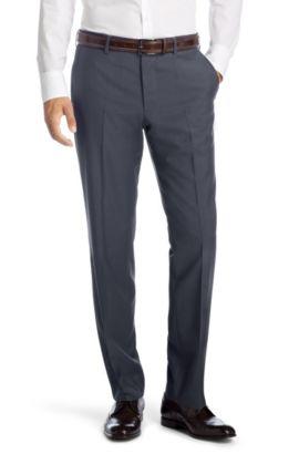 Pantalon business Comfort Fit«Parkway1»en laine vierge, Bleu