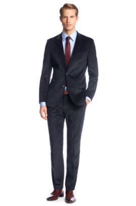 Slim-Fit Anzug ´Hedge2/Gense1` aus Cord, Dunkelblau