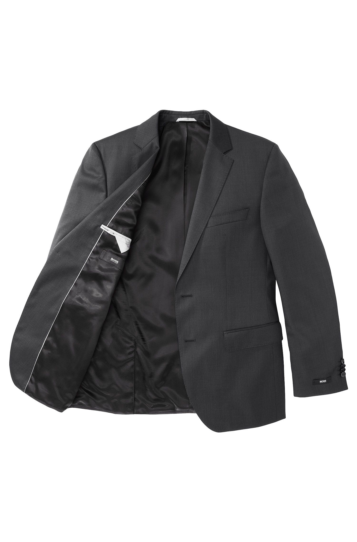 Jacket in water-repellent new wool: 'The Rider'