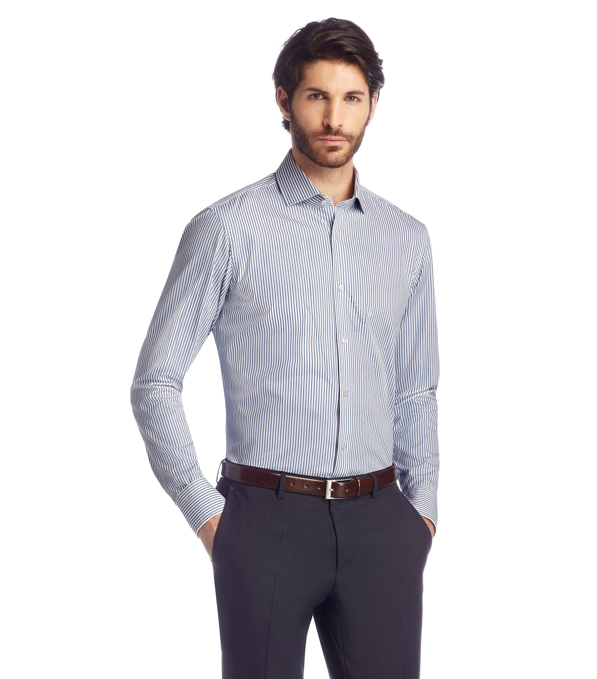 Regular-Fit Business-Hemd ´Gordon` mit extralangen Ärmeln, Blau
