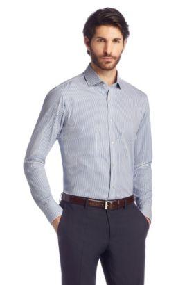 Chemise Regular Fit «Gordon» à manches extra longues, Bleu