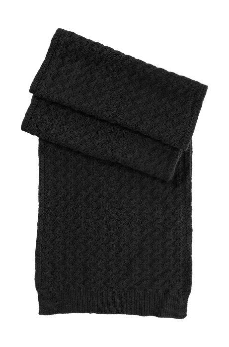 Knit scarf 'SC526', Black