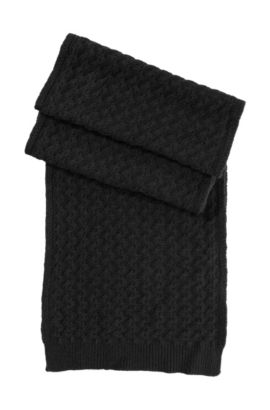 Gebreide sjaal 'SC526', Zwart