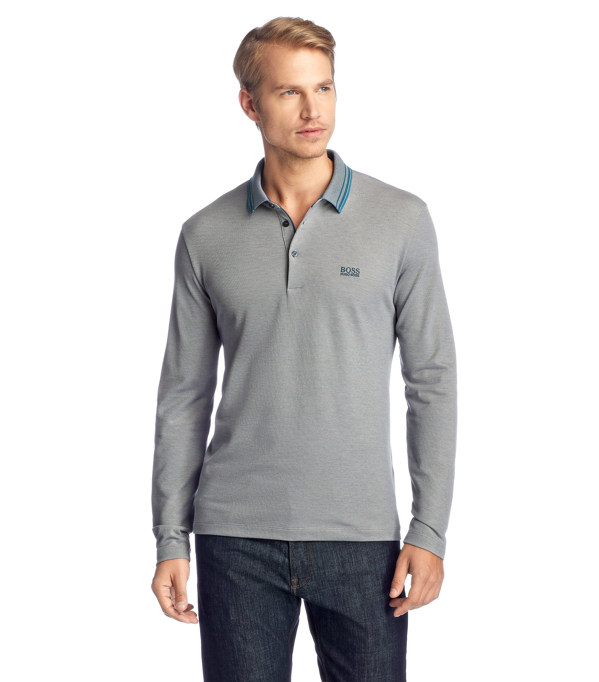 Regular-Fit Polo ´Lesona 29`, Hellblau