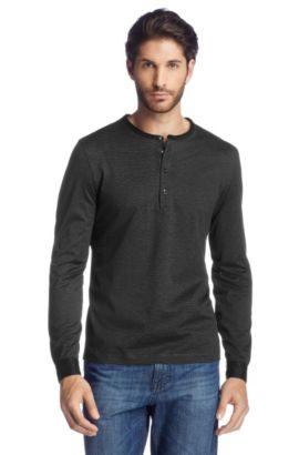 Cotton long-sleeved top 'Veneto 07', Noir