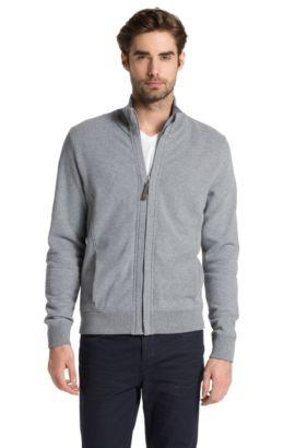 Sweatshirt-Jacke ´Zupernova` aus Baumwoll-Gemisch, Hellgrau