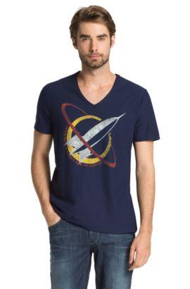 T-shirt à imprimé fusée, Taury, Bleu foncé
