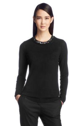 Pullover ´F4841` aus Schurwolle, Schwarz