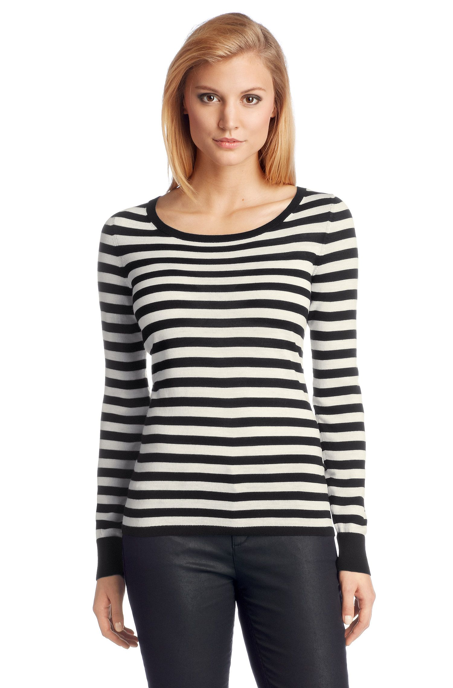 Pull-over en laine vierge, F4857