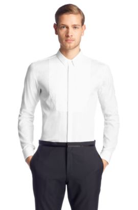 Slim-Fit Eveninghemd ´Emmer` mit Kentkragen, Weiß