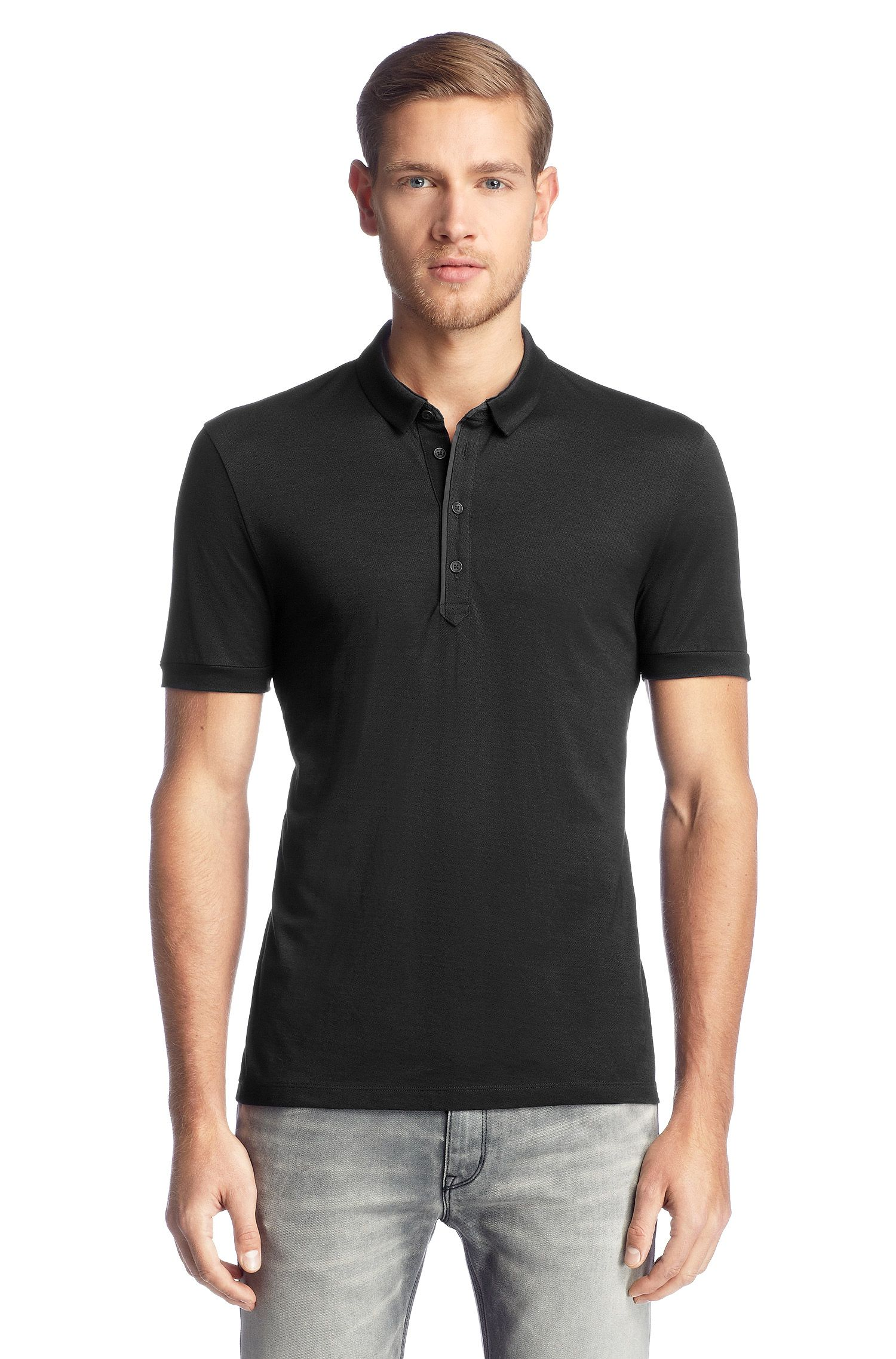 Polo Regular Fit en maille piquée, Detour