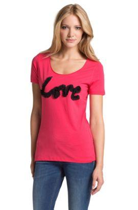 T-shirt en coton, Tecca, Rose