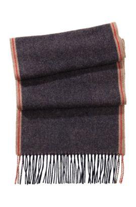 Sjaal ´Neans-1`, van scheerwol, Donkerblauw