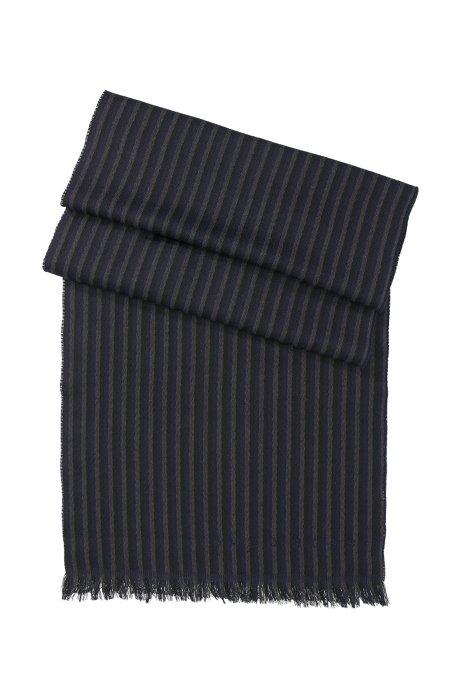 Knitted wool scarf 'Pevo', Dark Blue