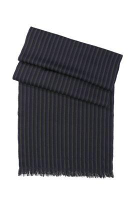 Gebreide sjaal ´Pevo`, van wol, Donkerblauw