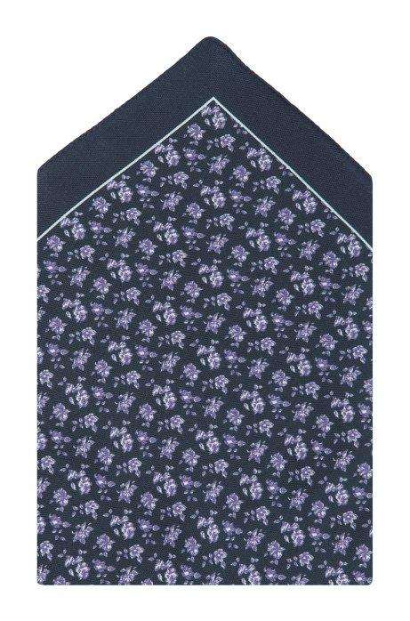 Silk pocket square 'Pocket Square 33x33', Black