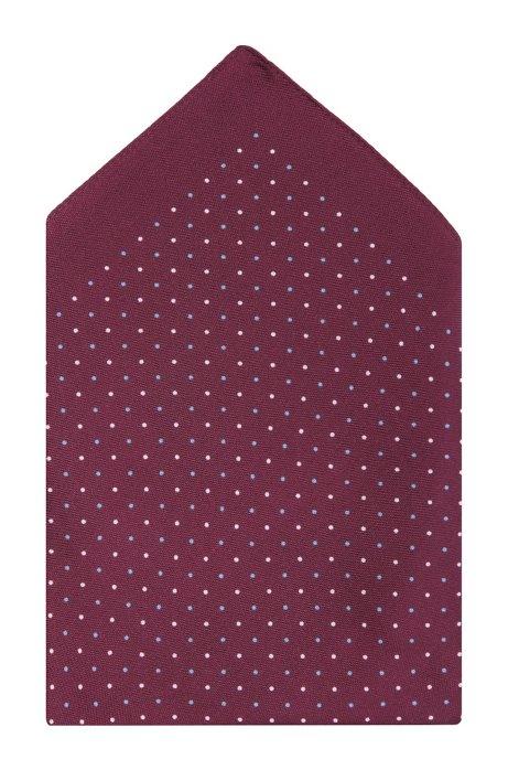 Silk pocket square 'Pocket Square 33x33', Pink