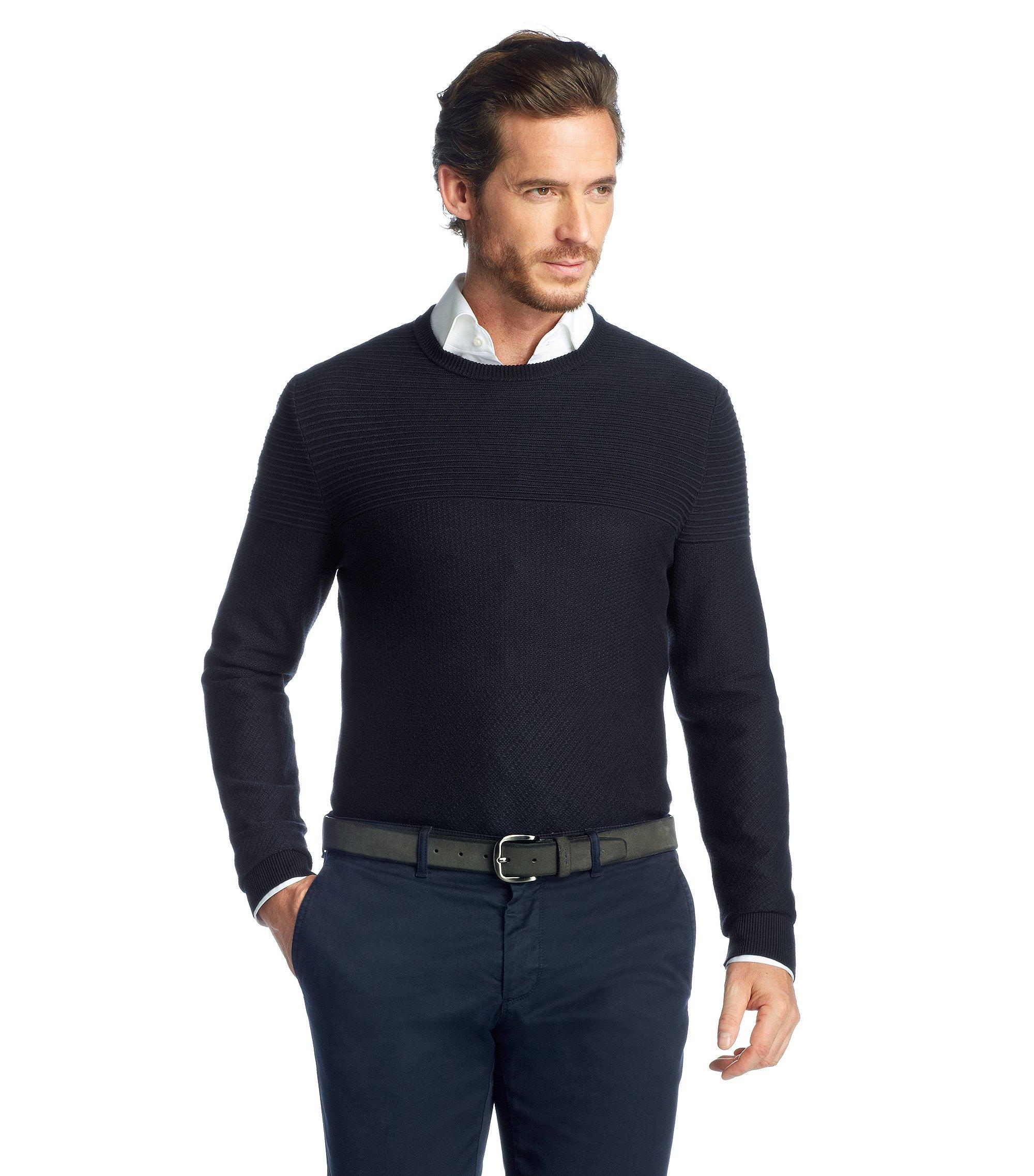 Pullover ´Niato` aus Baumwollkomposition, Dunkelblau