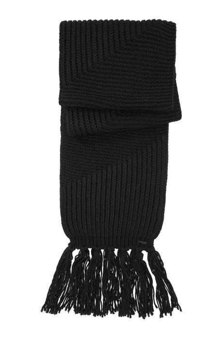 Knitted scarf 'Women-Z 433', Black