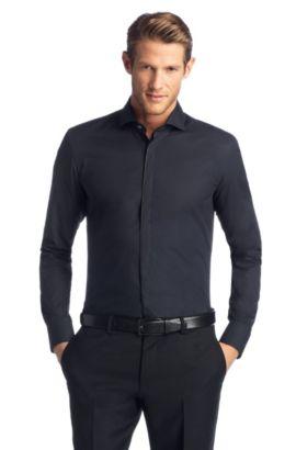 Chemise business Slim Fit «Jamison» en coton, Bleu foncé