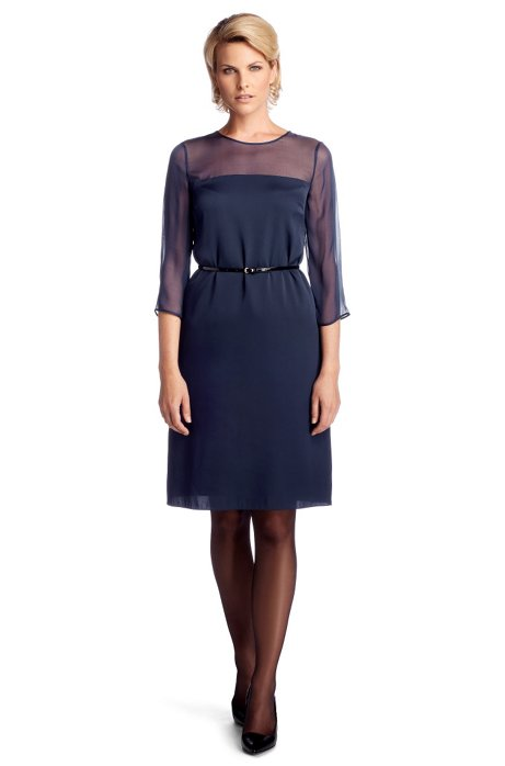 Silk composition dress 'Diviolet', Open Blue