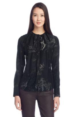 Zijden blouse 'Banora3', Bedrukt