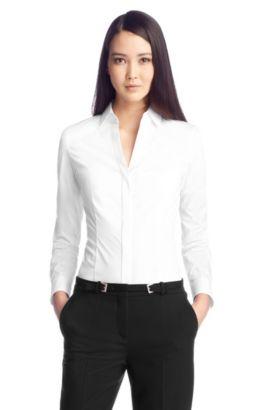 Bluse ´Birta` aus Baumwollkomposition, Weiß