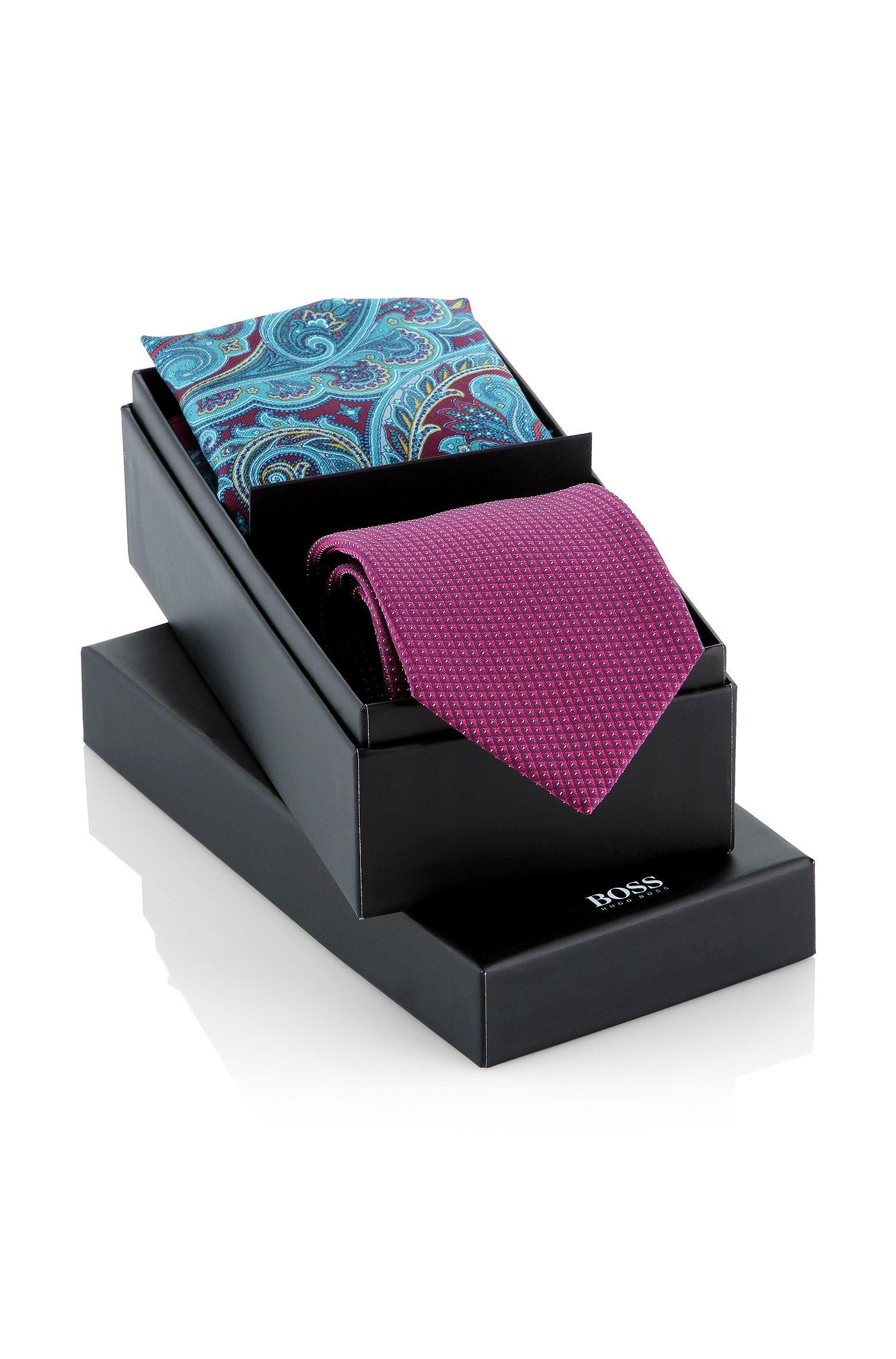 Geschenk-Box ´Set tie + pocketsquare`