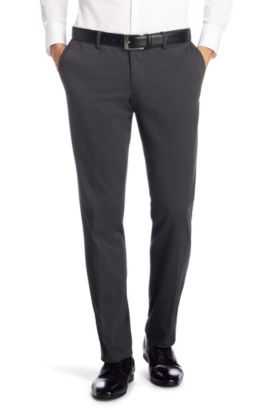 Chino Slim Fit en coton mélangé, Stanino4-W, Anthracite
