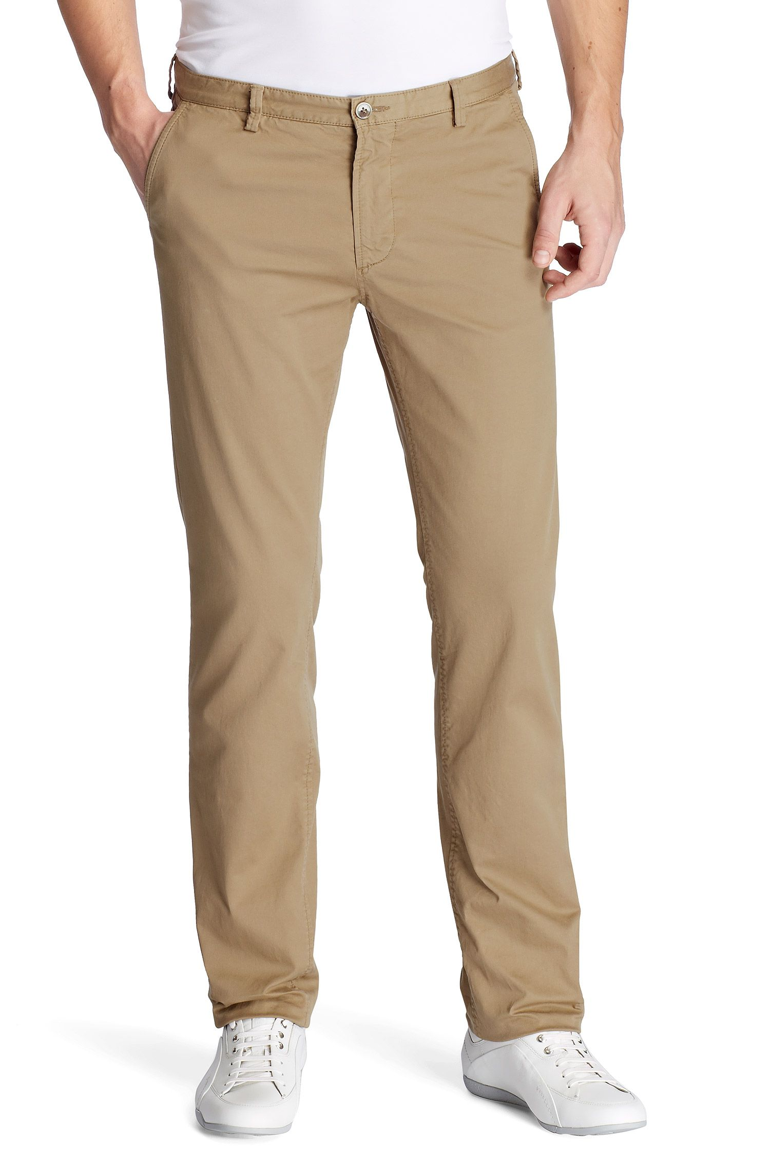 Slim-Fit Freizeit-Hose ´Rice-1-D modern essential`, Beige