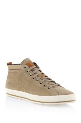 Chaussures sneaker «Bakkon» en cuir velours, Beige
