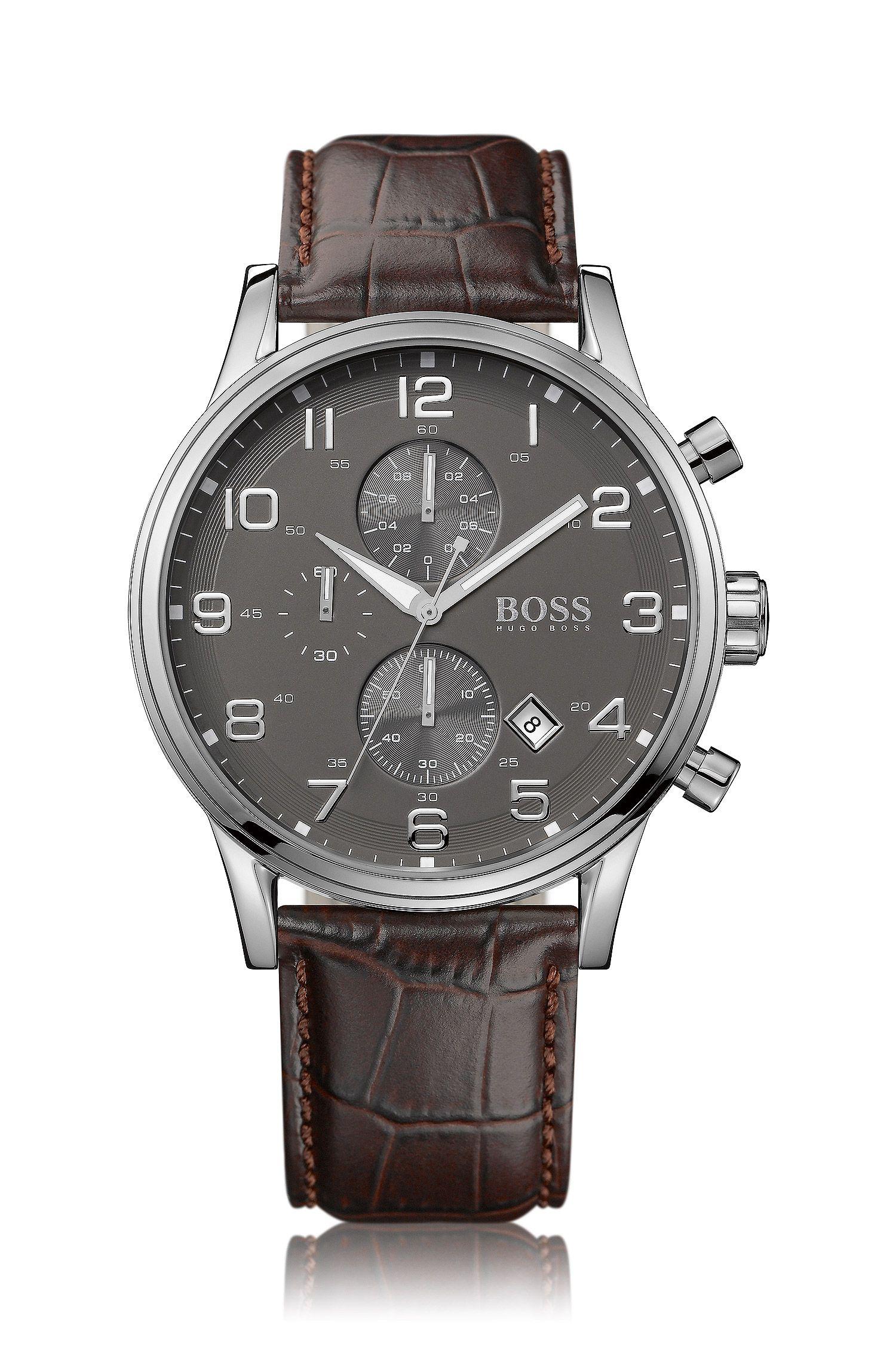 Chronographe «HB2006» avec bracelet en cuir