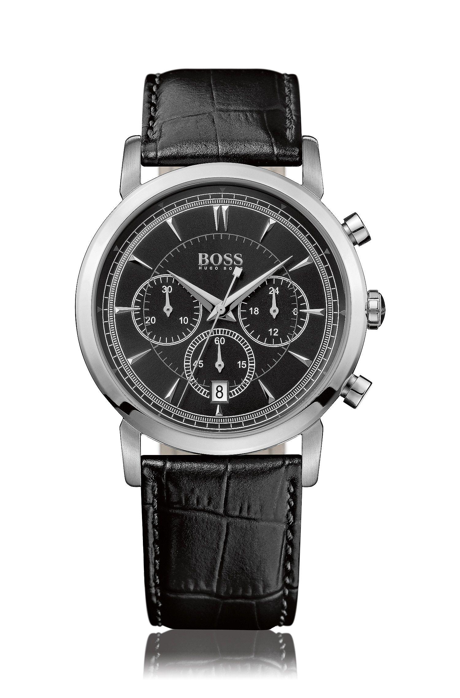 Armbanduhr ´HB 1013` mit geprägtem Lederarmband