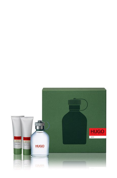 'HUGO Man' gift set with eau de toilette 100 ml and shower gel, Assorted-Pre-Pack