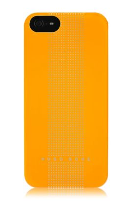 Hardcover ´DOTS YELLOW V` voor iPhone 5, Donkergeel