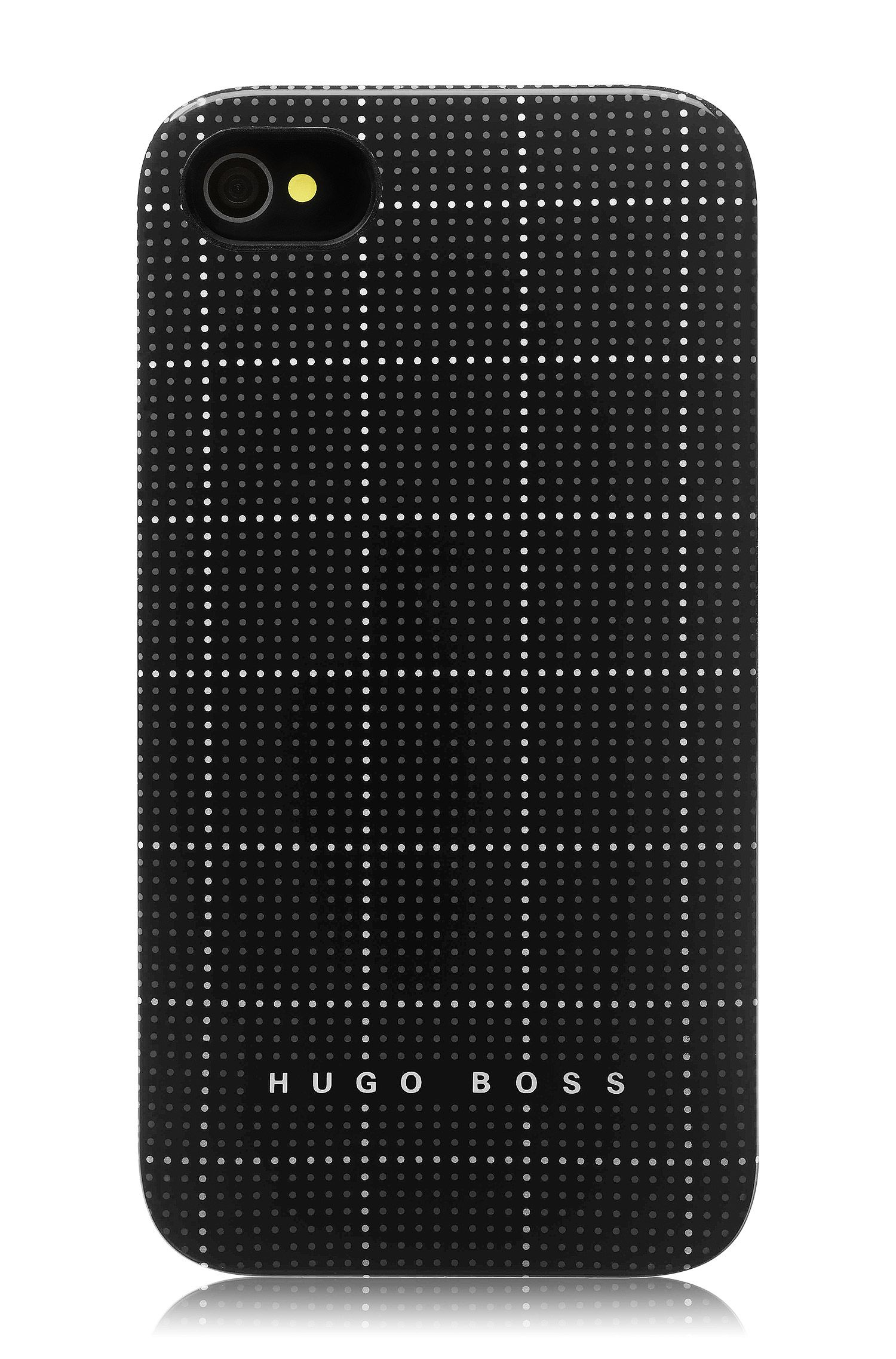 Hard cover ´Squares Black`voor iPhone 4/4S