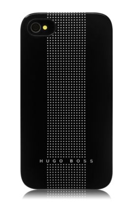 Hard Cover ´Dots Black` für iPhone 4/4S, Schwarz