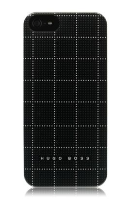 Housse Hard Cover ´Squares White V` pour iPhone 5/5s, Noir