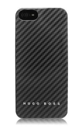 Hardcover ´Carbon V` voor iPhone 5, Zwart