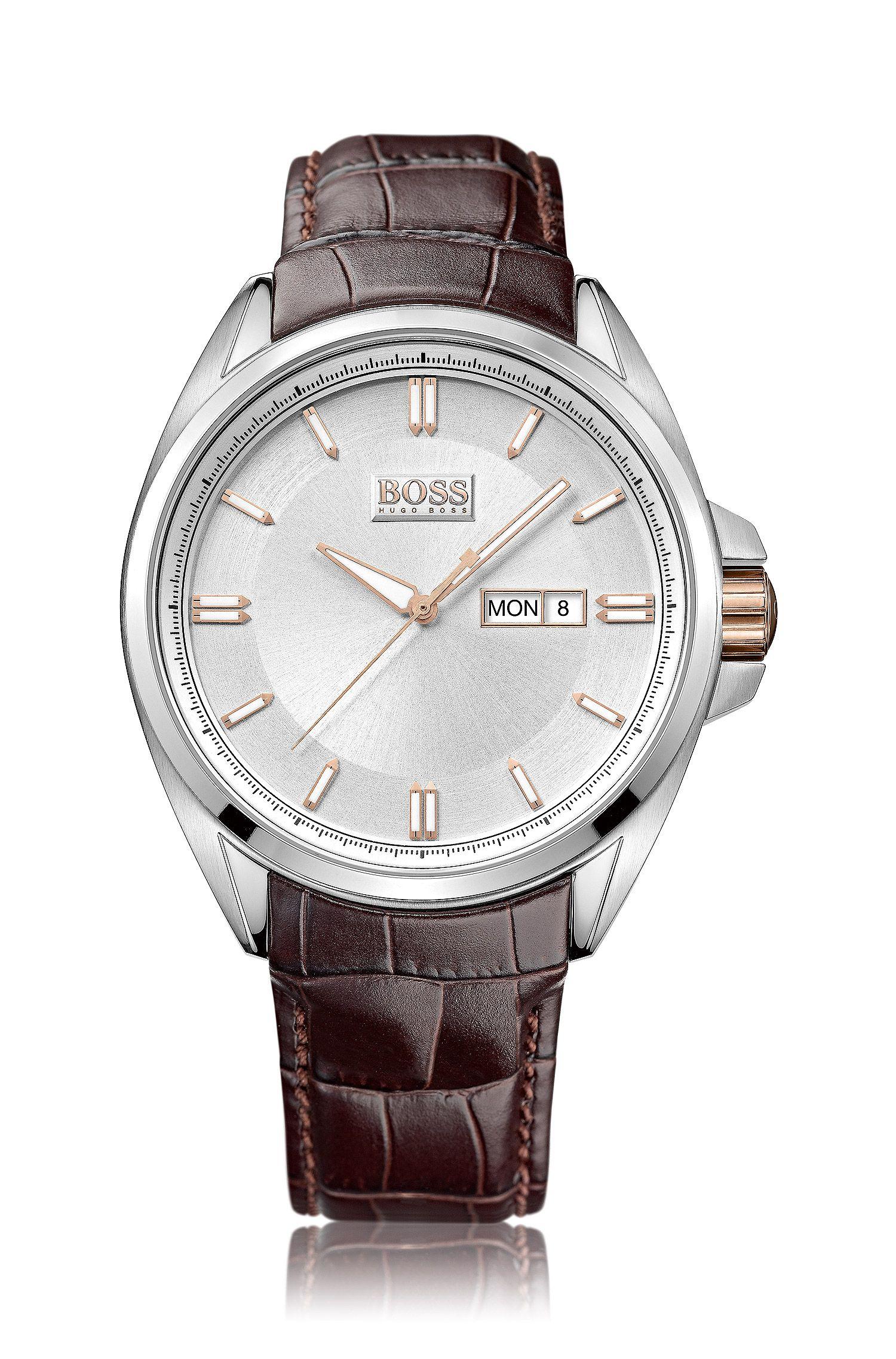 Armbanduhr ´HB301` mit Lederarmband