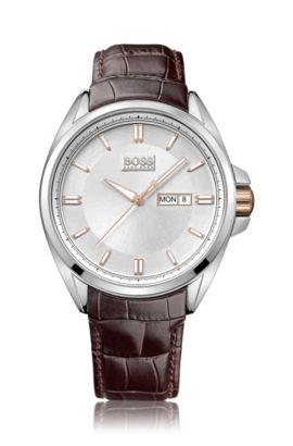 Montre-bracelet «HB301» avec bracelet en cuir, Assorted-Pre-Pack