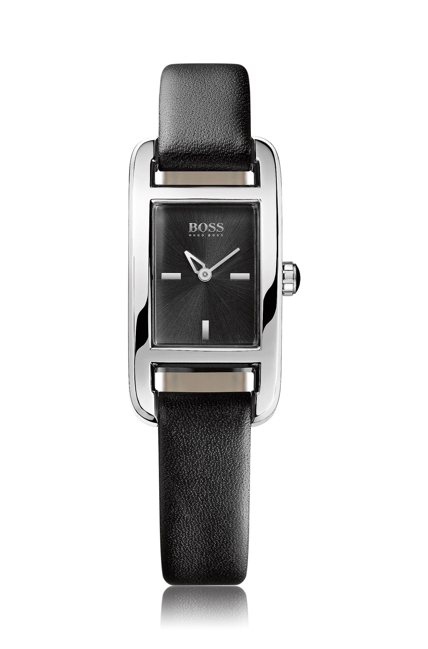 Montre femme, bracelet en cuir, HB304