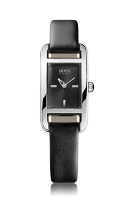 Women's watch with leather strap 'HB304', Assorted-Pre-Pack
