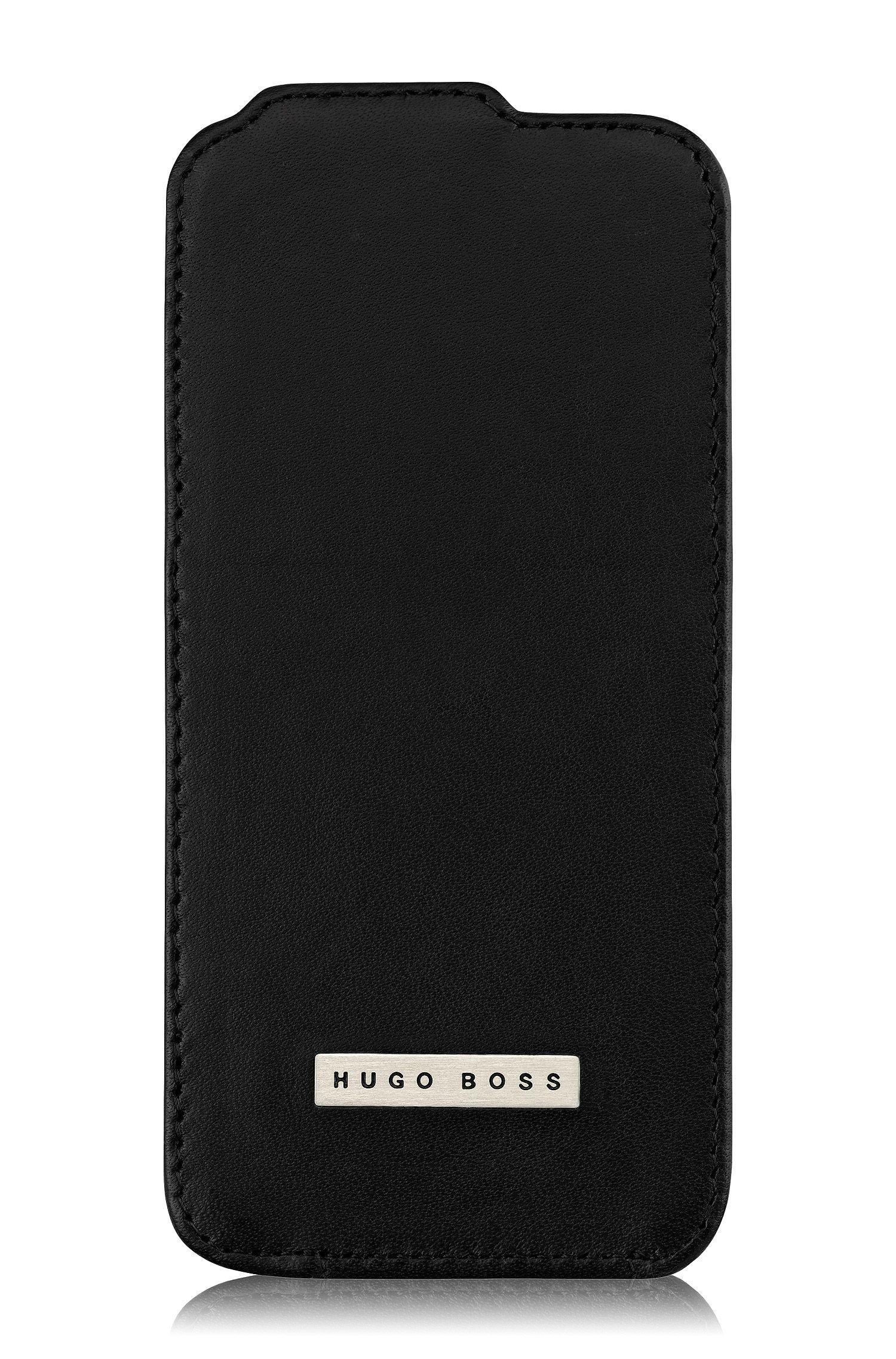 Housse en cuir Flip Case «Angle V» pour iPhone 5/5s, Noir