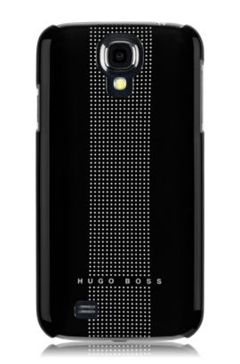 Coque rigide Samsung Galaxy S4, Dots black IV, Noir