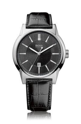 Montre-bracelet «HB6000» avec bracelet en cuir, Assorted-Pre-Pack