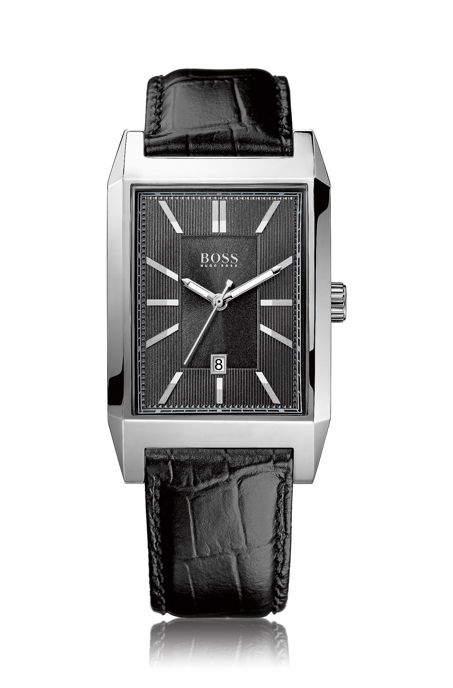 Montre-bracelet «HB6001» avec bracelet en cuir