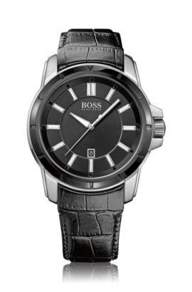 Montre-bracelet «HB302» avec bracelet en cuir, Assorted-Pre-Pack