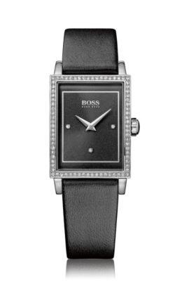 Montre-bracelet «HB6009» avec bracelet en cuir, Assorted-Pre-Pack